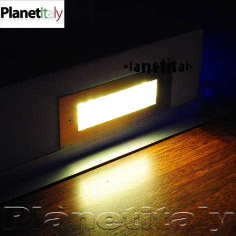 Faretto incasso 15 led segnapassi segnaviale luce calda uso esterno 220v ip65  eBay