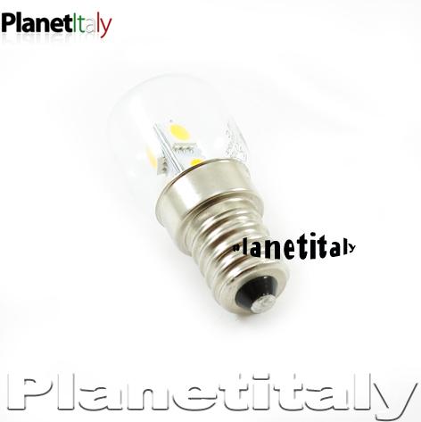 lampadina volt : Lampada led per frigorifero 1w peretta led e14 230v luce calda 6 led ...