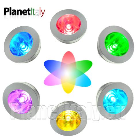 Dettagli su Faretto da incasso LED RGB per doccia bagno turco wc luce ...
