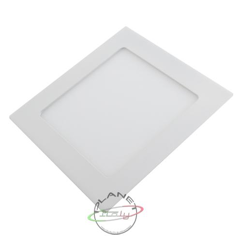 Faretto led 12w bianco quadrato foro incasso 15cm luce ...