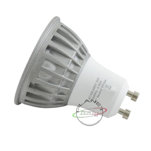 Lampada lampadina faretto led gu10 4000k luce bianco naturale 3x1w 3 super le...
