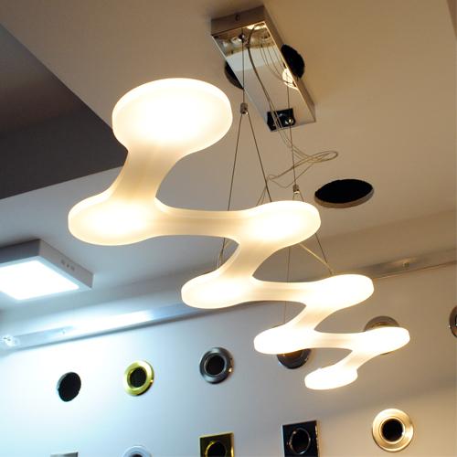 Lampadario led sospensione 24w luce calda tecnologia LED COB 220v design moderno   eBay -> Lampadari Moderni Rettangolari