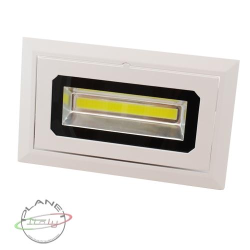 Faretto faro led 30w downlight rettangolare incasso staffa 230v vetrine orientab  eBay