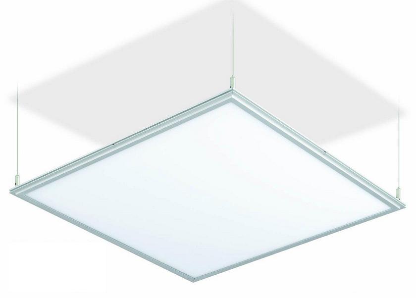 Lampada led sospensione moderna plafoniera 48w 60x60 luce bianca ufficio arre...
