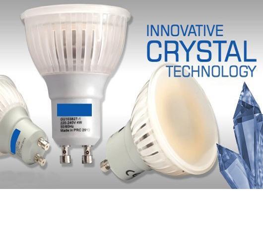 Lampada Led Faretto Gu10.Lampada Faretto Gu10 Mcob Led Crystal Technology 360 Gradi Luce Diffusa 4w 50w