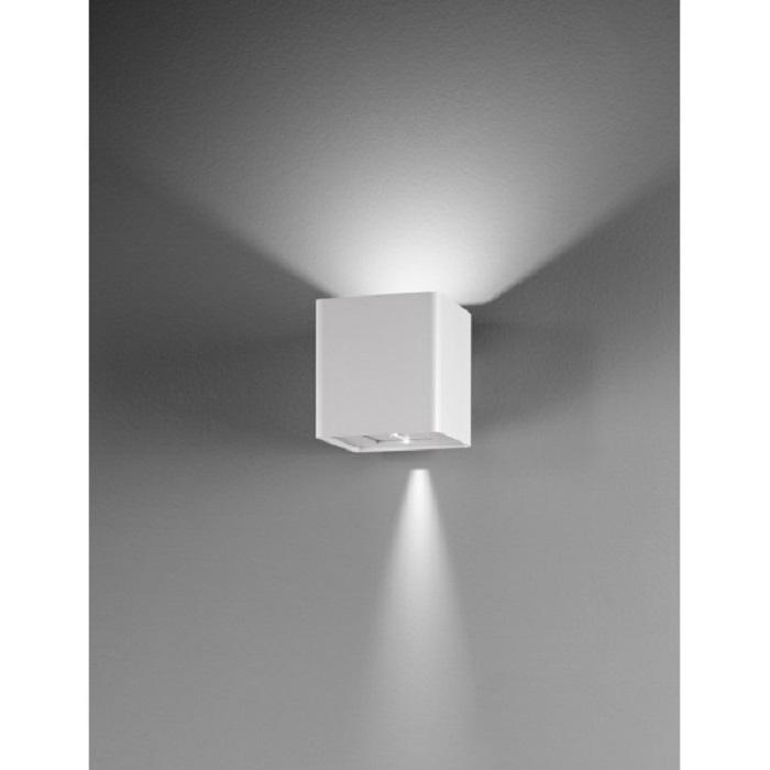 Lampada parete applique led uso esterno interno doppia luce fredda regolabile...