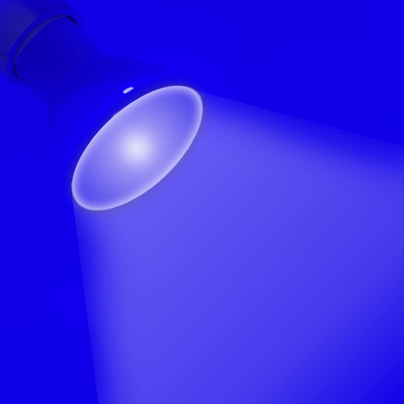Lampada lampadina led gu10 luce blu 3x1w spot led luce blu for Luce led blu
