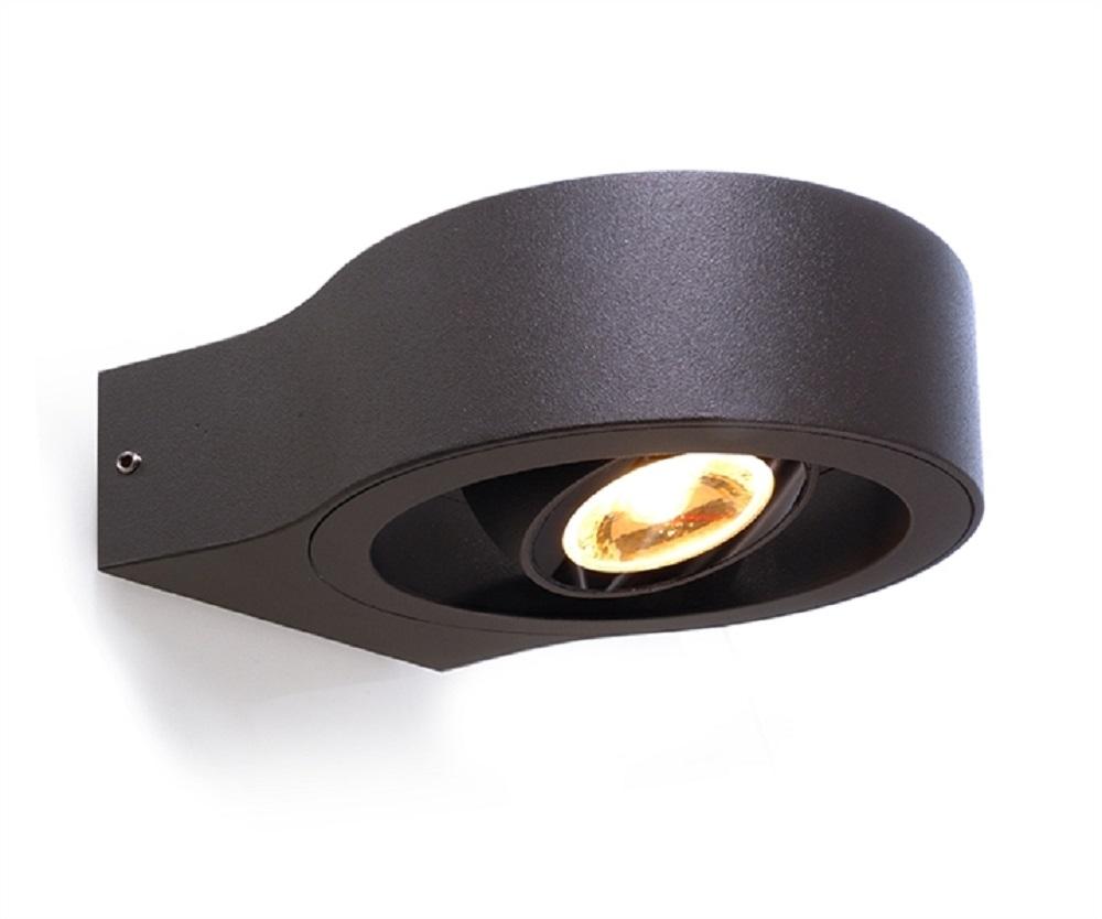 Faretti Led Orientabili Da Esterno.Faretto Applique Led Orientabile Per Esterni 8w Illuminazione Accessi A Portoni Ingressi