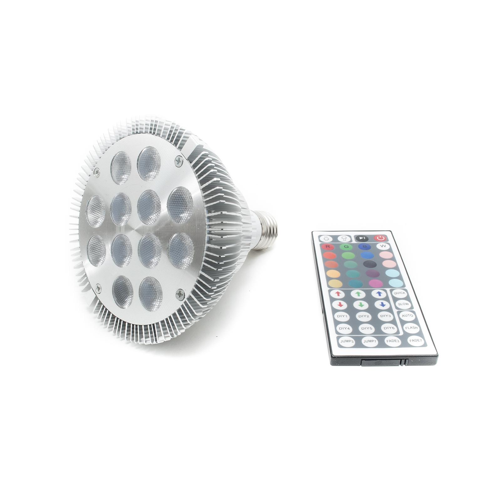 lampada spot led e27 rgb 12w par38 faretto multi colore 230v ad alta potenza luminosa - Spot Led Multicolore