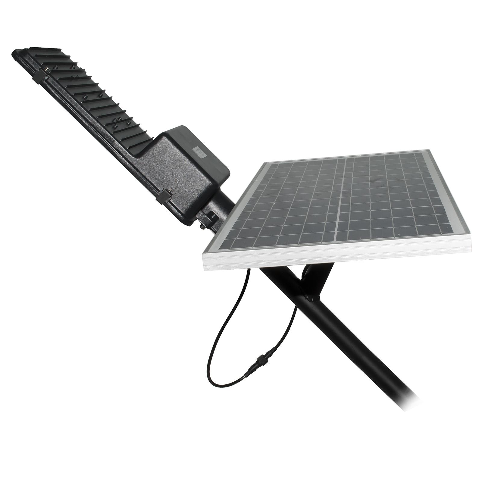 Luce Per Esterno Con Pannello Solare.Faro Stradale Lampione Led Crepuscolare 150w Pannello Solare Ip65 Dimmerabile