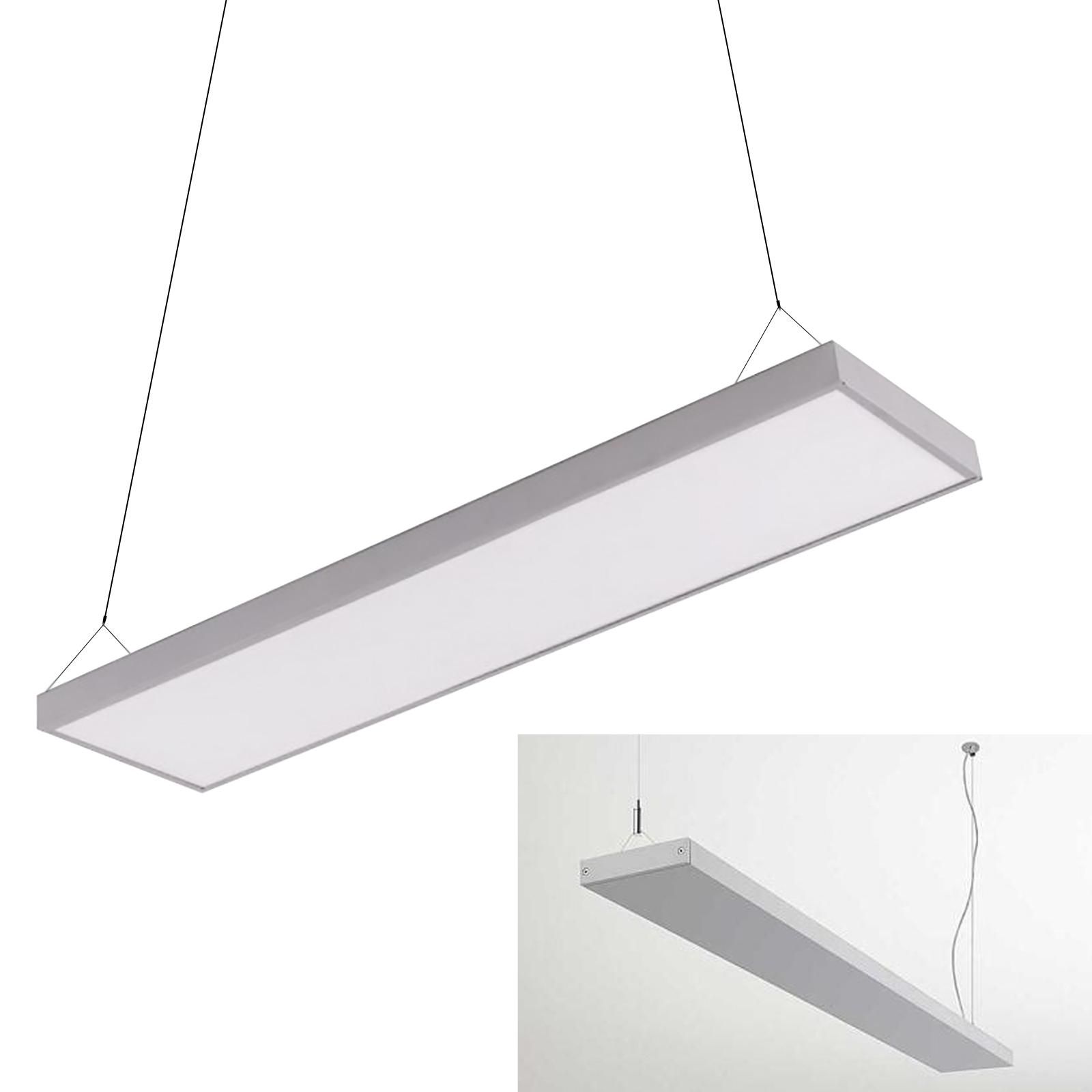 Lampade Sospensione Per Ufficio.Pannello Led Bianco Pendente Sospensione 120x18cm 45w 6400k Negozio Ufficio