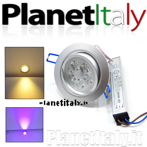 Faretto led rgb incasso 15w 5 led power cromoterapia 220v luce doccia bagno R...