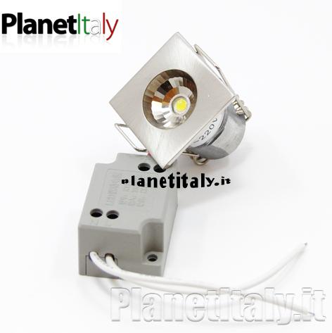 patterson - faretto incasso led 3cm - planetitaly - faretto, punto, luce, blu, led, foro ...
