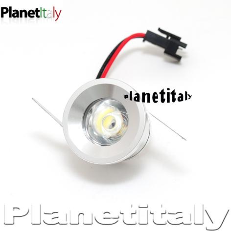 ... luce led faretto led incasso 1 led 1w luce calda 220v LED HP  eBay