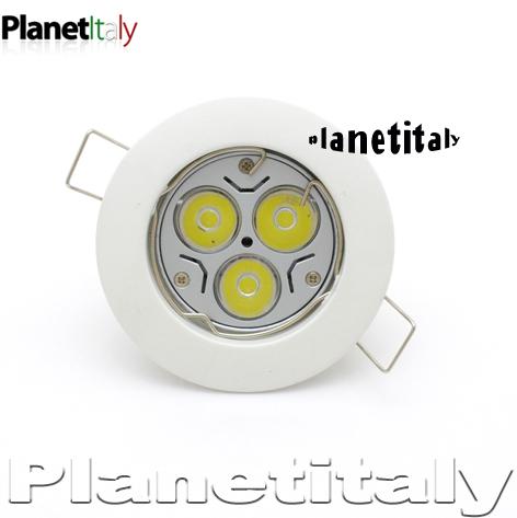 Faretti Led Incasso 12v.Faretto Led Incasso 12v 3 Led 3w Luce Bianco Lampada Led Gu5 3 Mr16 Porta Faretto Bianco