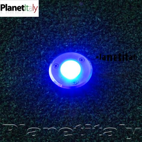 Caino faretto led incasso terreno planetitaly for Luce led blu