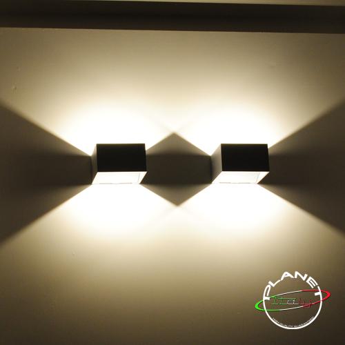 Led applique moderno illuminazione parete muro casa lampada led 4w ...