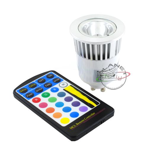 Lampada Led Con Telecomando.Lampadina Faretto Led Gu10 5w 220v 1x5w Rgb Multicolore Con