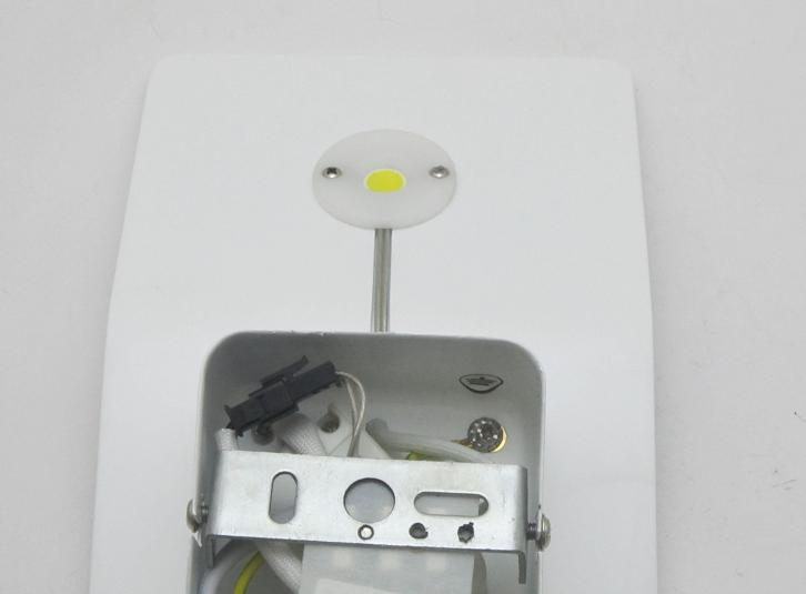 Applique parete specchio bagno moderno cromo acciaio lampada