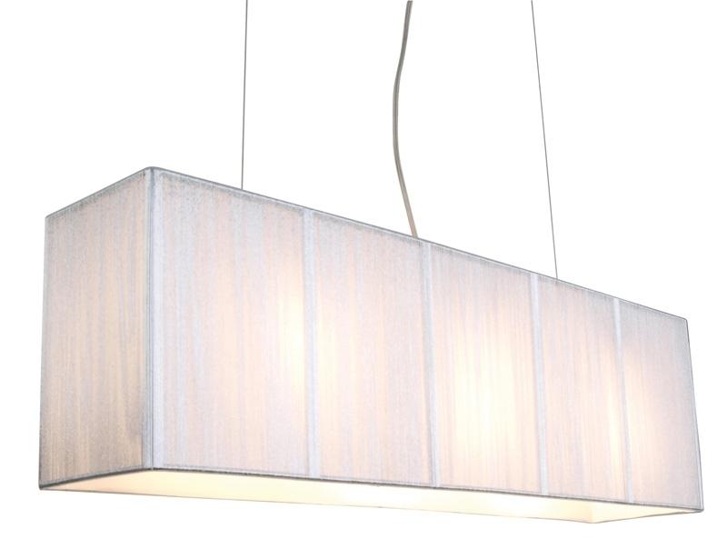 giacobbe   Lampadario   planetitaly   lampadario, sospensione, rettangolare, 3, luci, tessuto     -> Lampadari Moderni Rettangolari