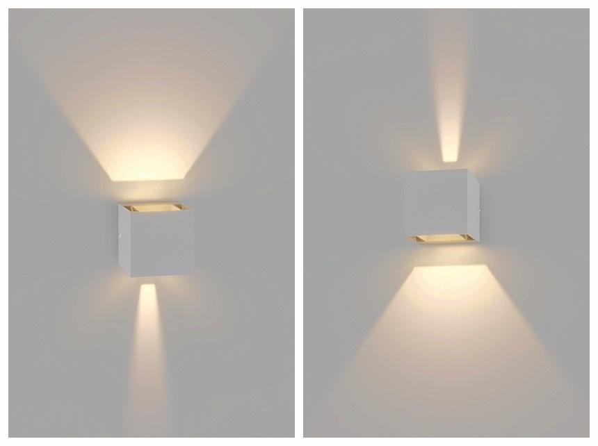 Applique da parete a led Cubo 6w fascio Luce Regolabile Biemissione 6W 4000K