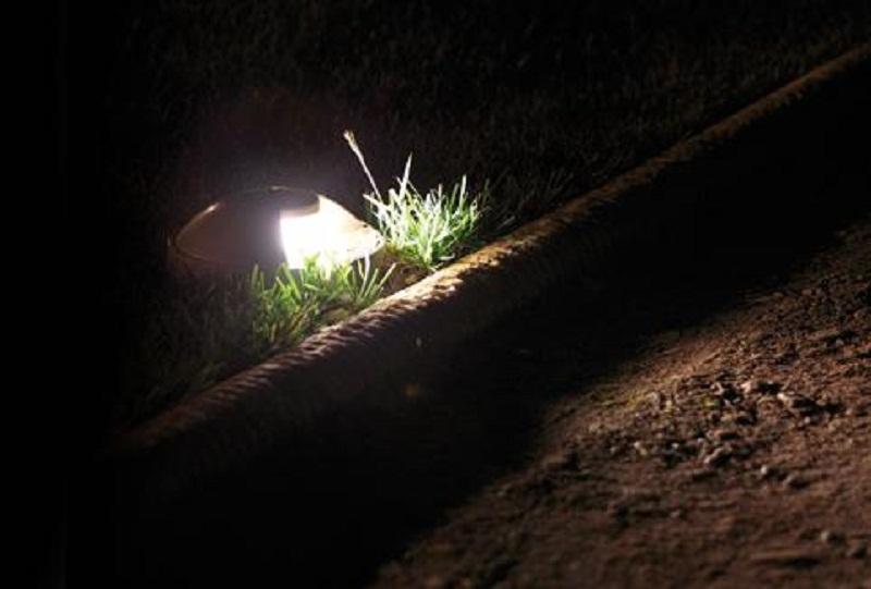 Faretto incasso pavimento terreno led per uso esterno luce calda