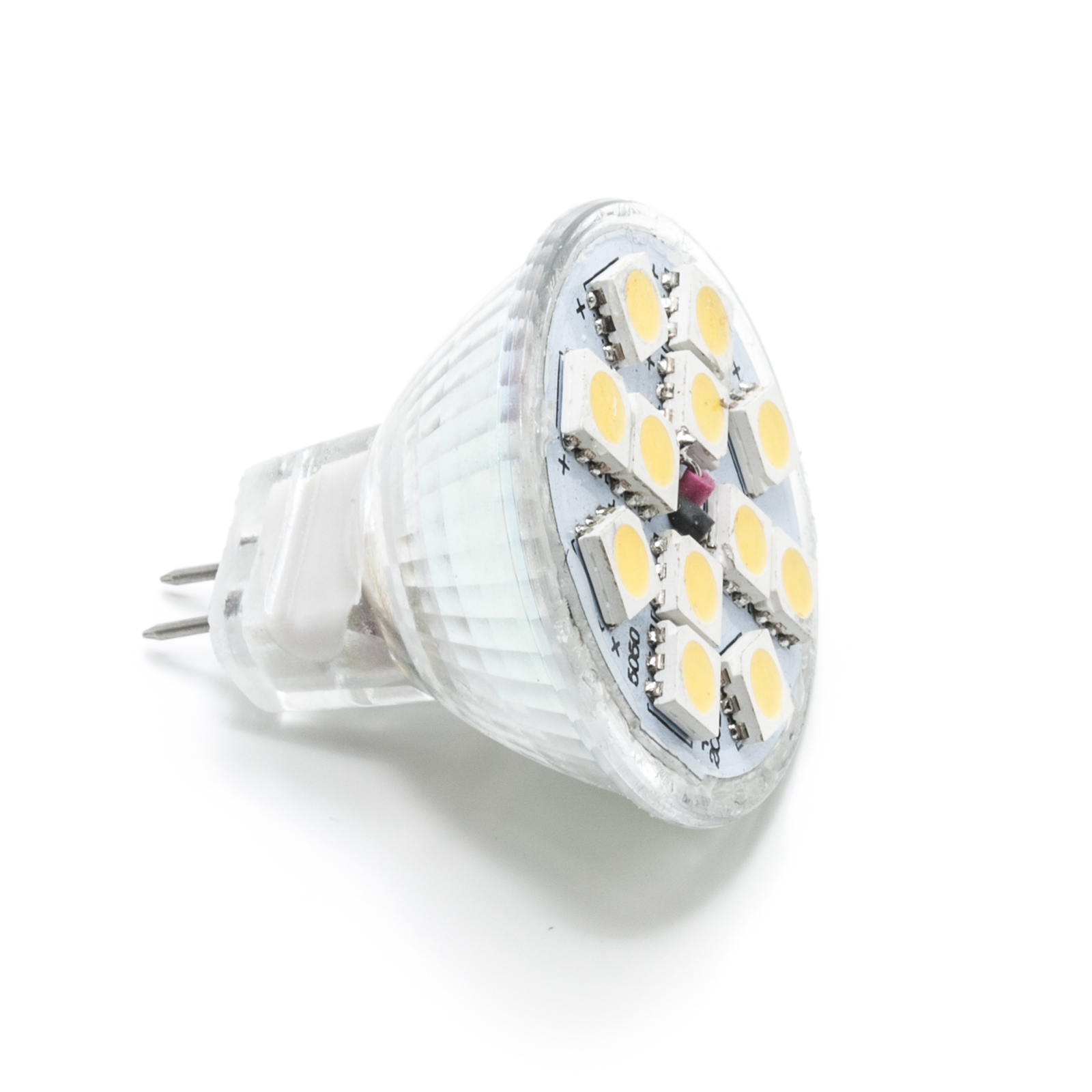 Led spotlight MR11 3w high power bright 12v g4 12 leds smd 5050