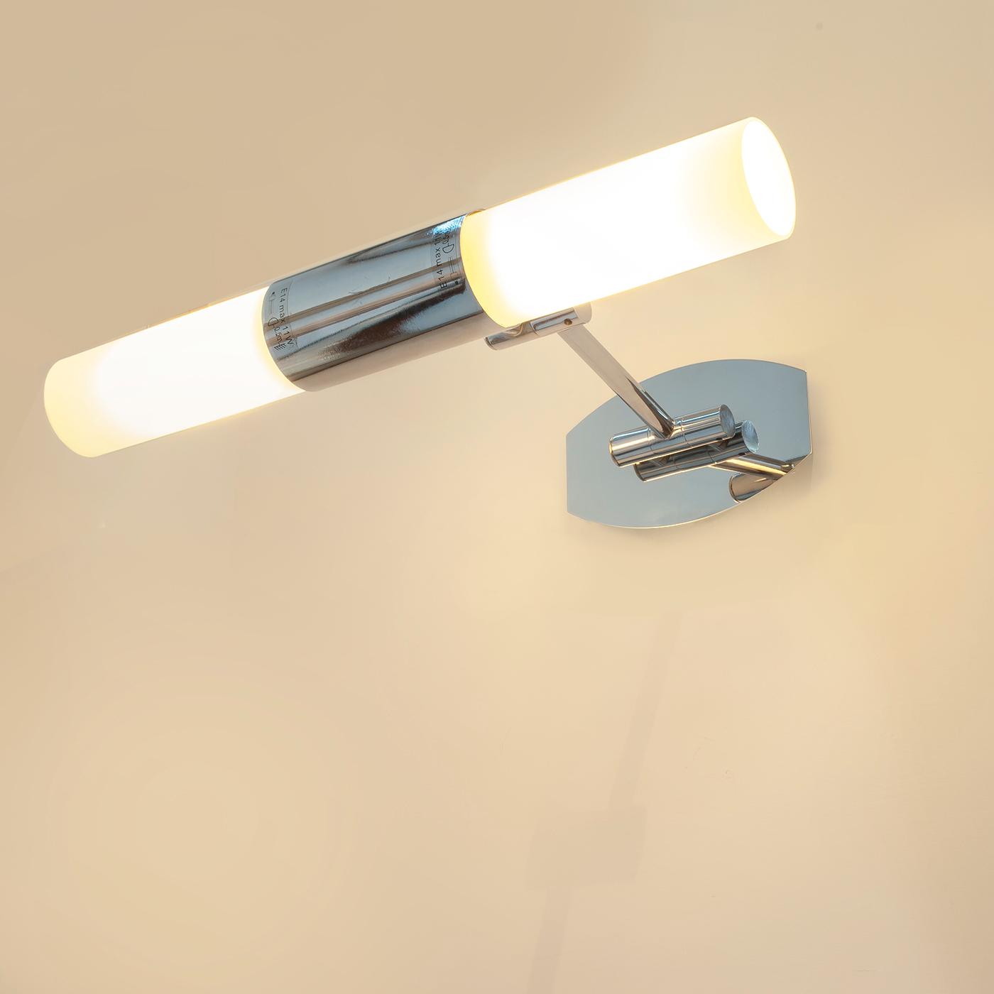 Lampade Per Bagno Da Specchio.Lampada Luce Specchio Applique Led Con Rifinitura Cromo Lucido