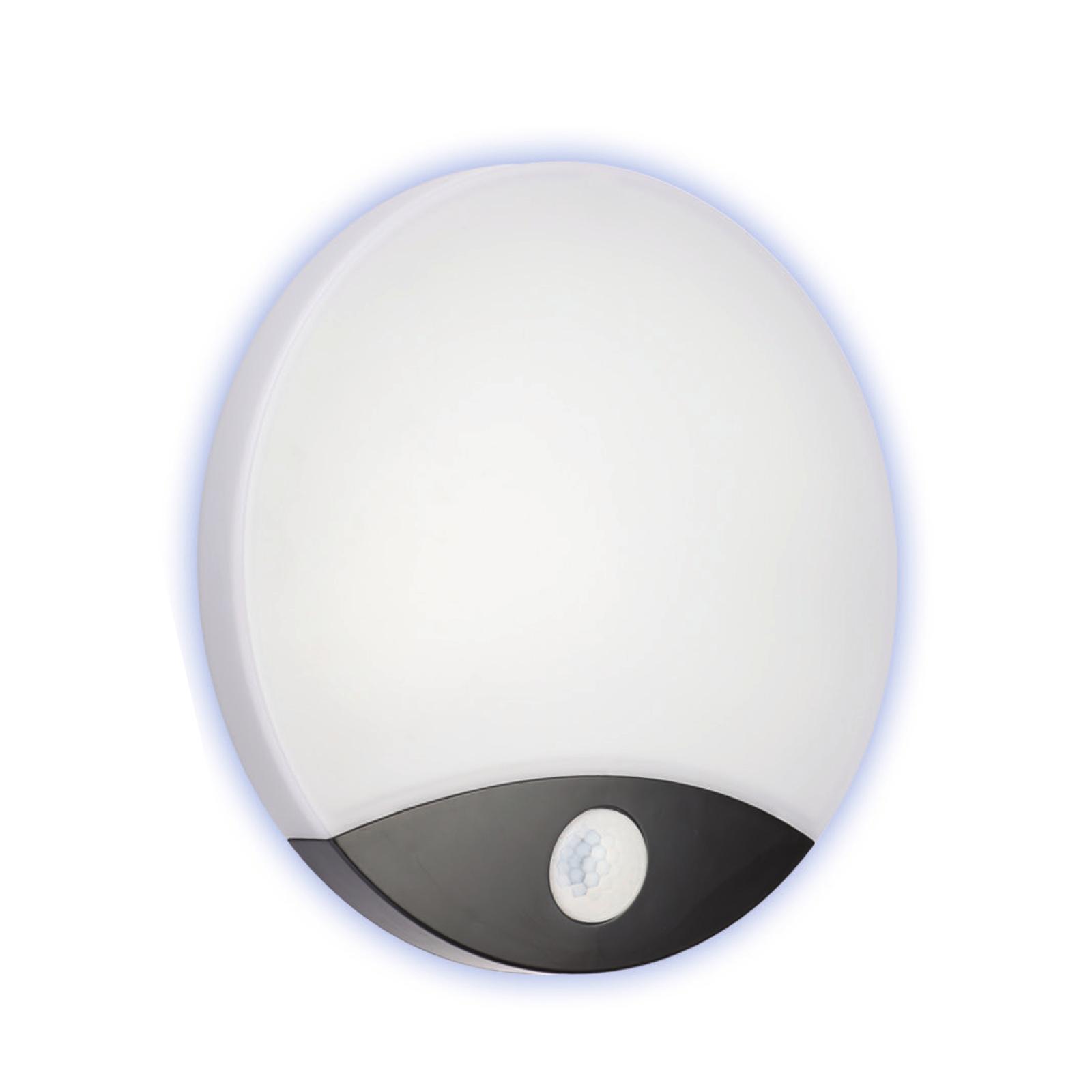 Lampade Per Porticati Esterni lampada da parete plafone per esterno led 10w resa 100w con sensore di  movimento pir