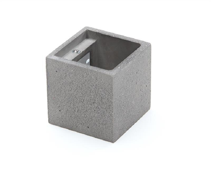 Applique moderna in quercia alogena quadrata cubo vesoi