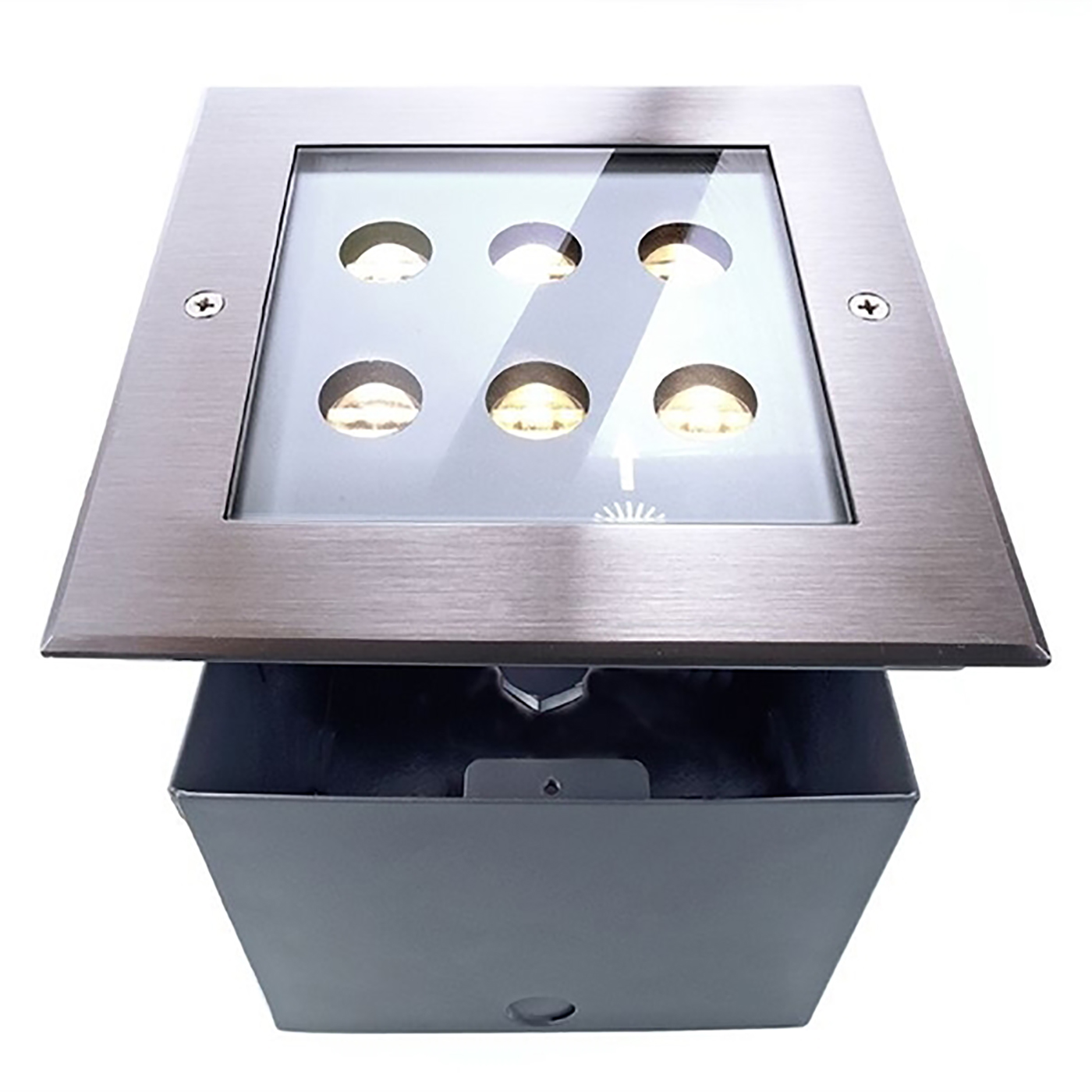 Calpestabile quadrato incasso pavimento terreno led 6w faretto IP67 SPOT light