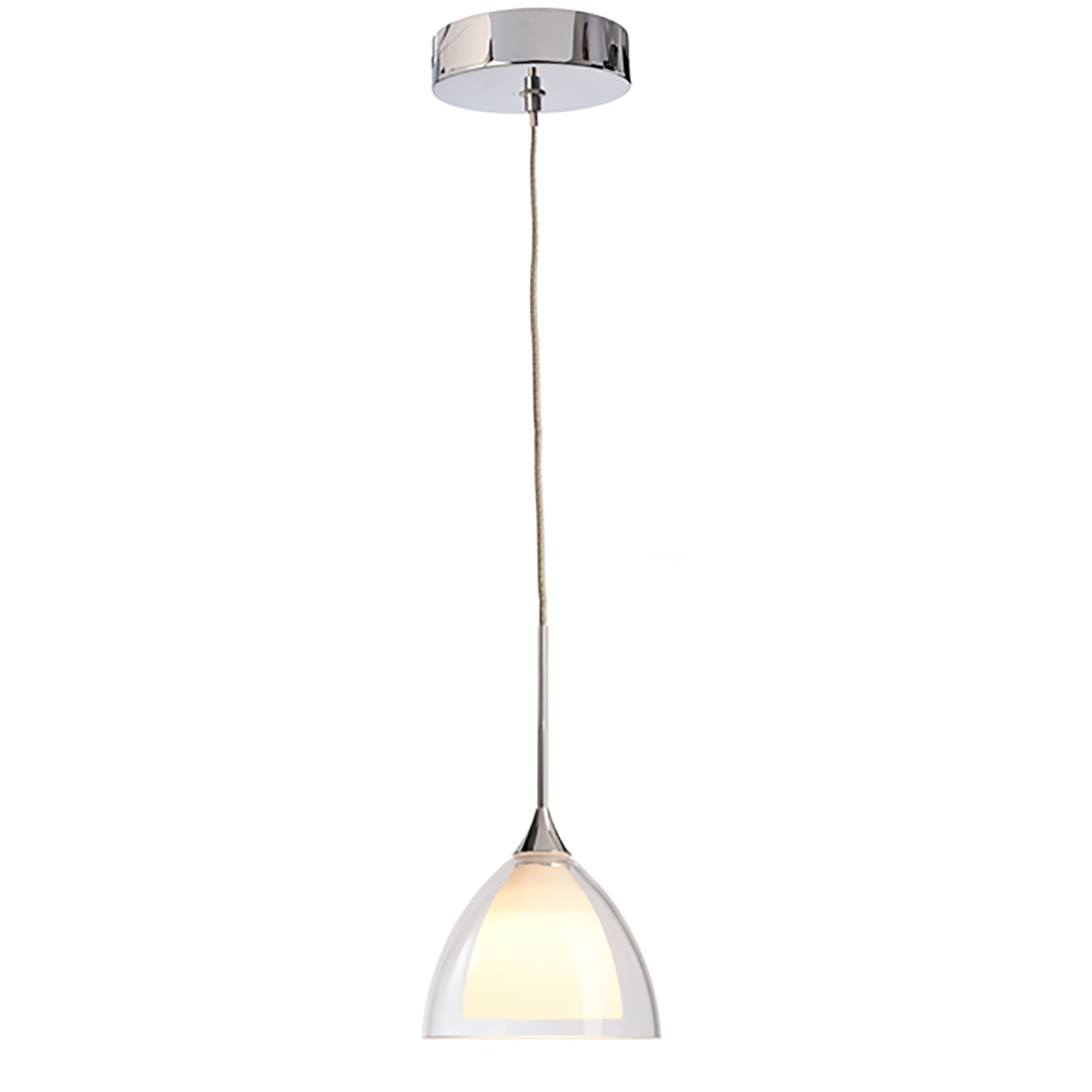 Bell pendant glass chandelier suspension 1M lamp, led 5W modern 3000K