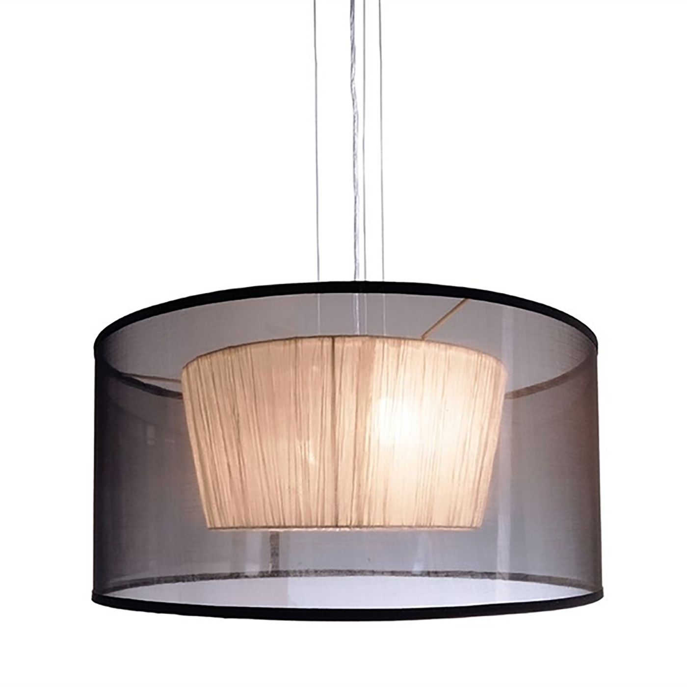 Moderne lustre suspension lampe suspension led de tissu de 4 attaques E27 220V