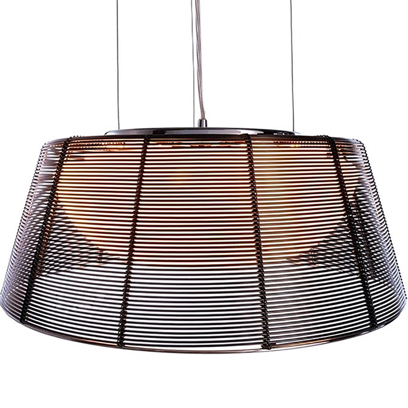 Chandelier metal woven wire pendant suspension LED 3 attacks E27