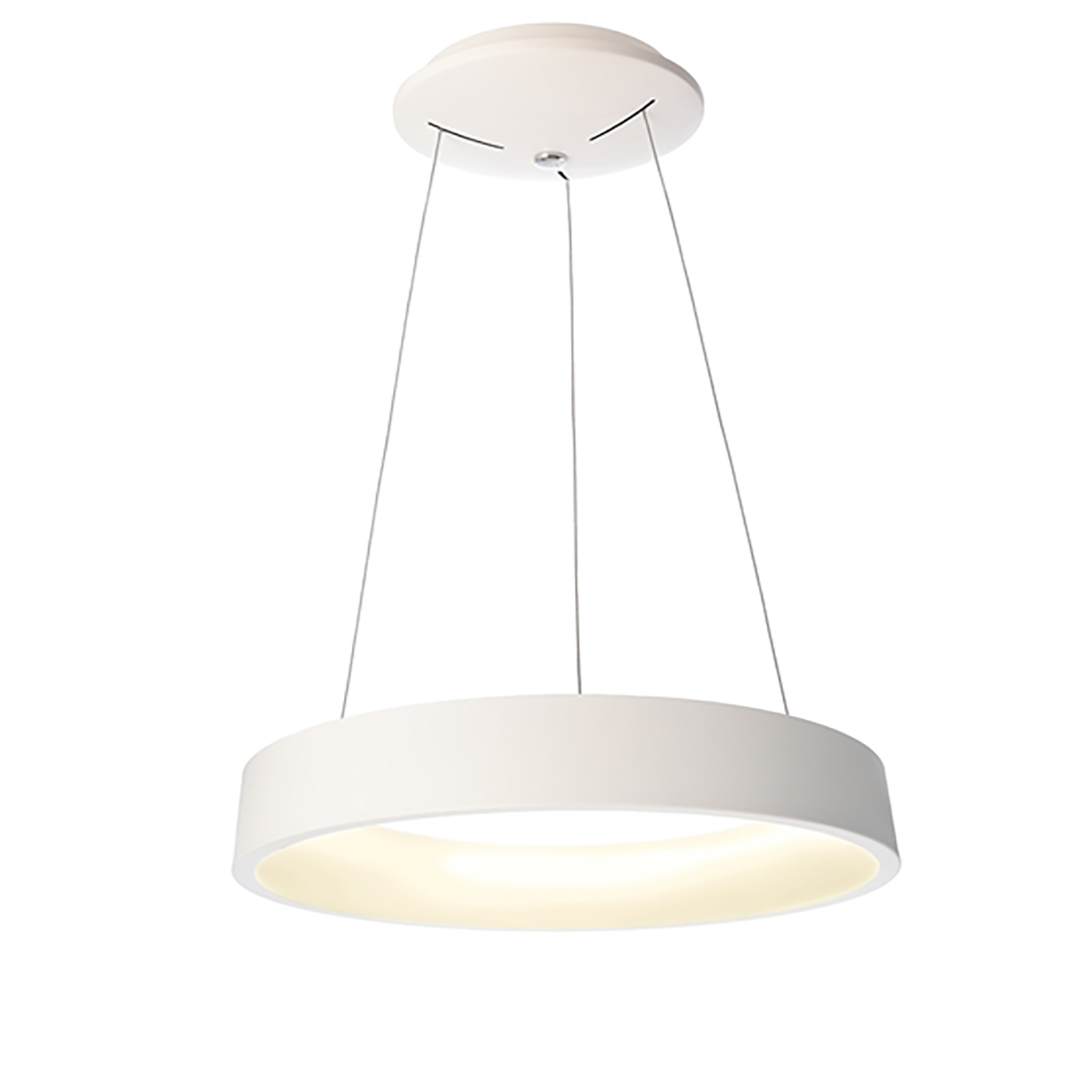 Lustre cercle de lumière de la suspension lampe suspension blanche à led 40W 2600lm