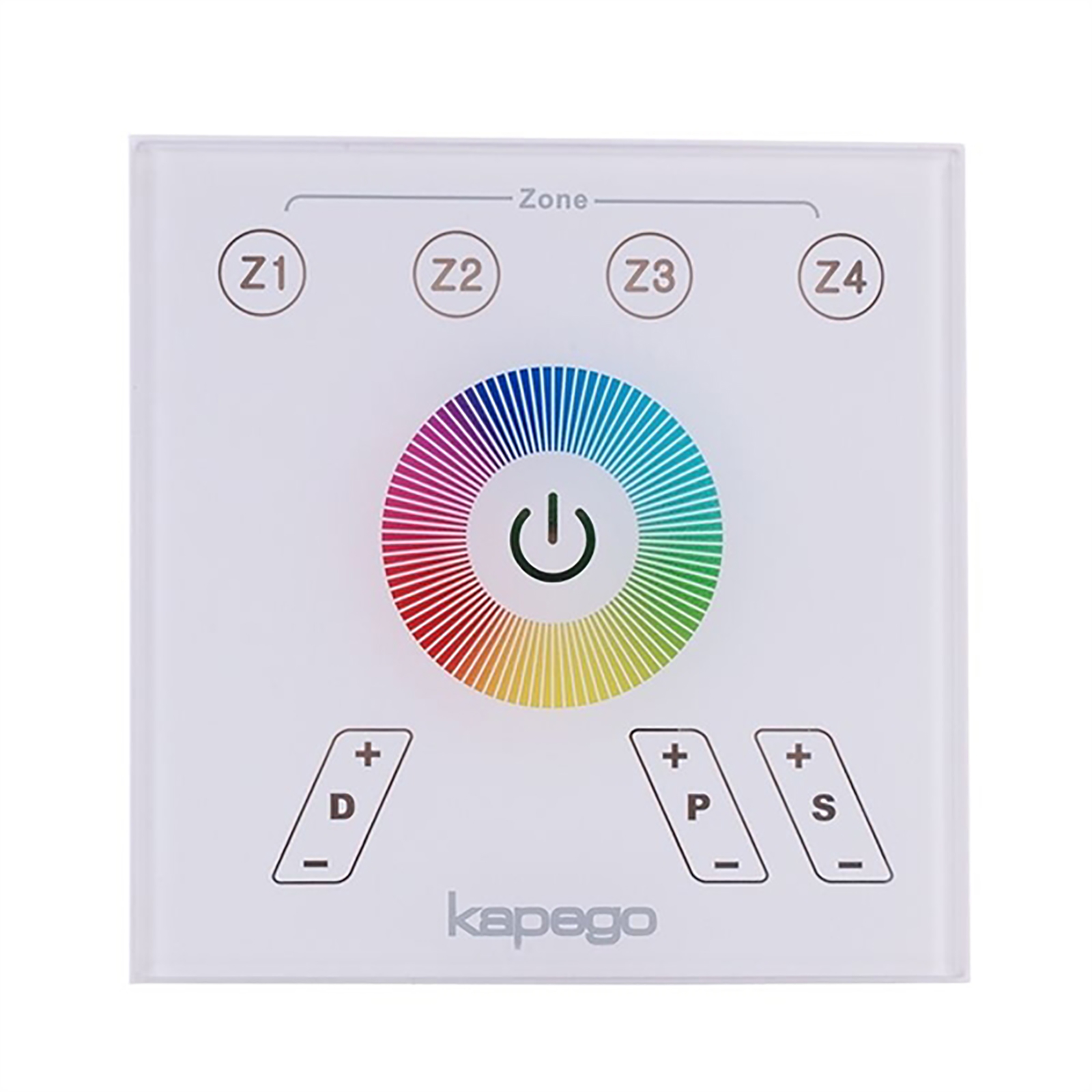 Panel controller touch LED lights RGB multicolor RF 4-zone 3CH 13 programs
