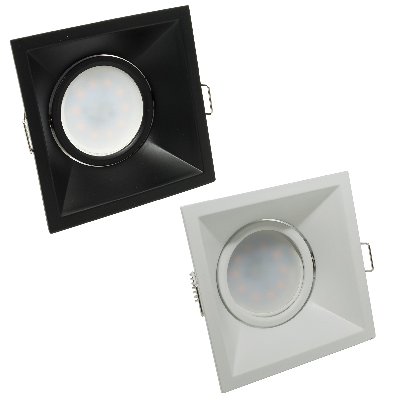 LED spotlight 8W recessed square lamp housing door adjustable hole 8cm diffuse light