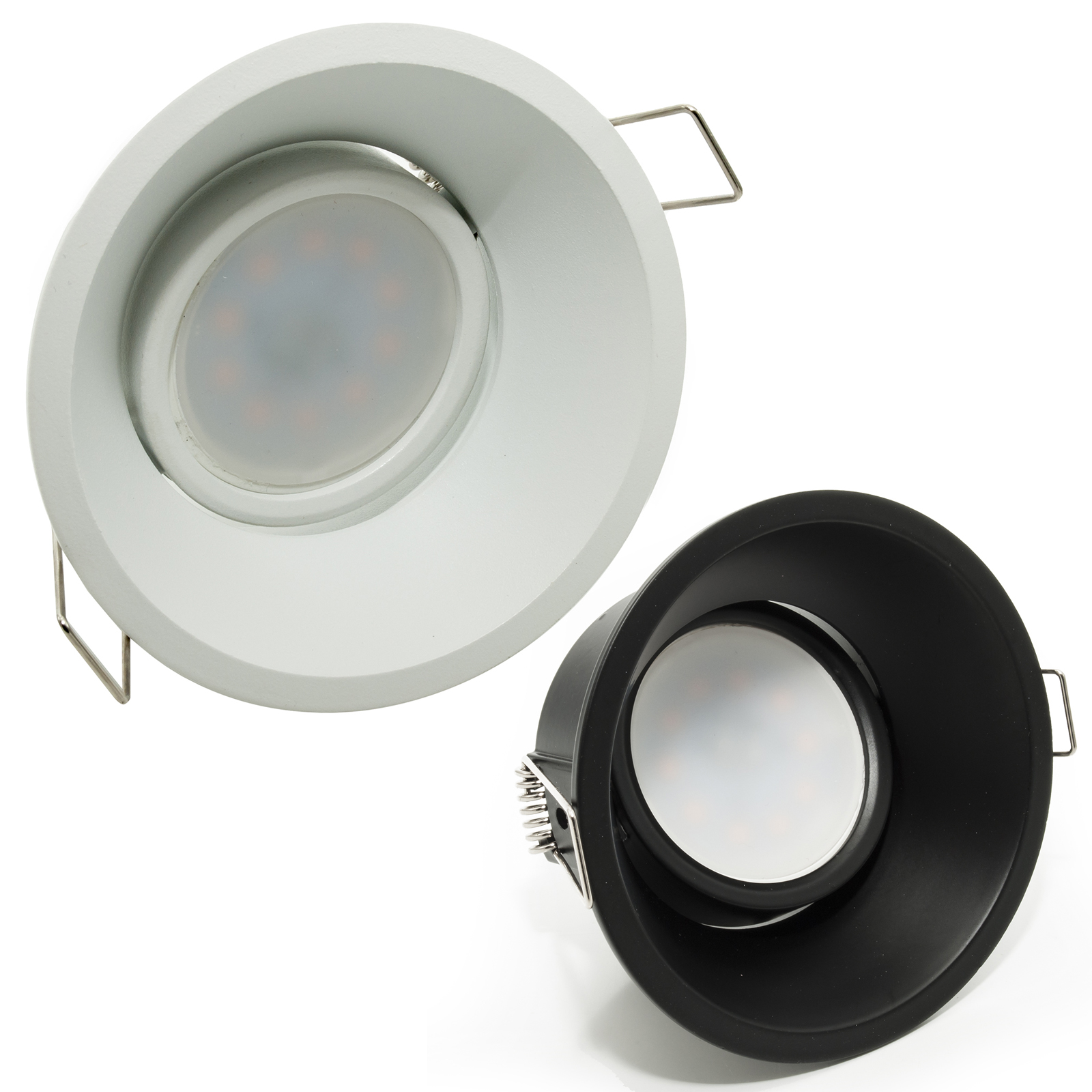 LED spotlight 8W recessed round lamp holder adjustable hole 85mm diffused light