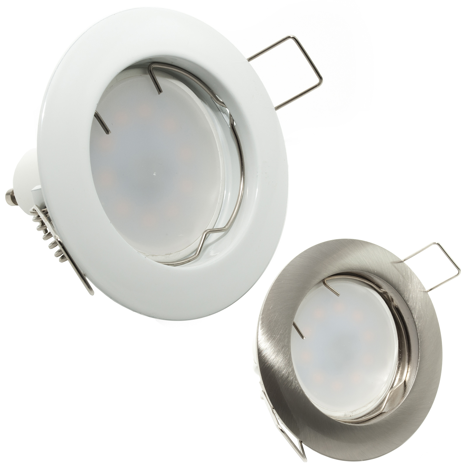 Spotlight LED lamp 8W diffused light recessed round lamp holder GU10 hole 6cm