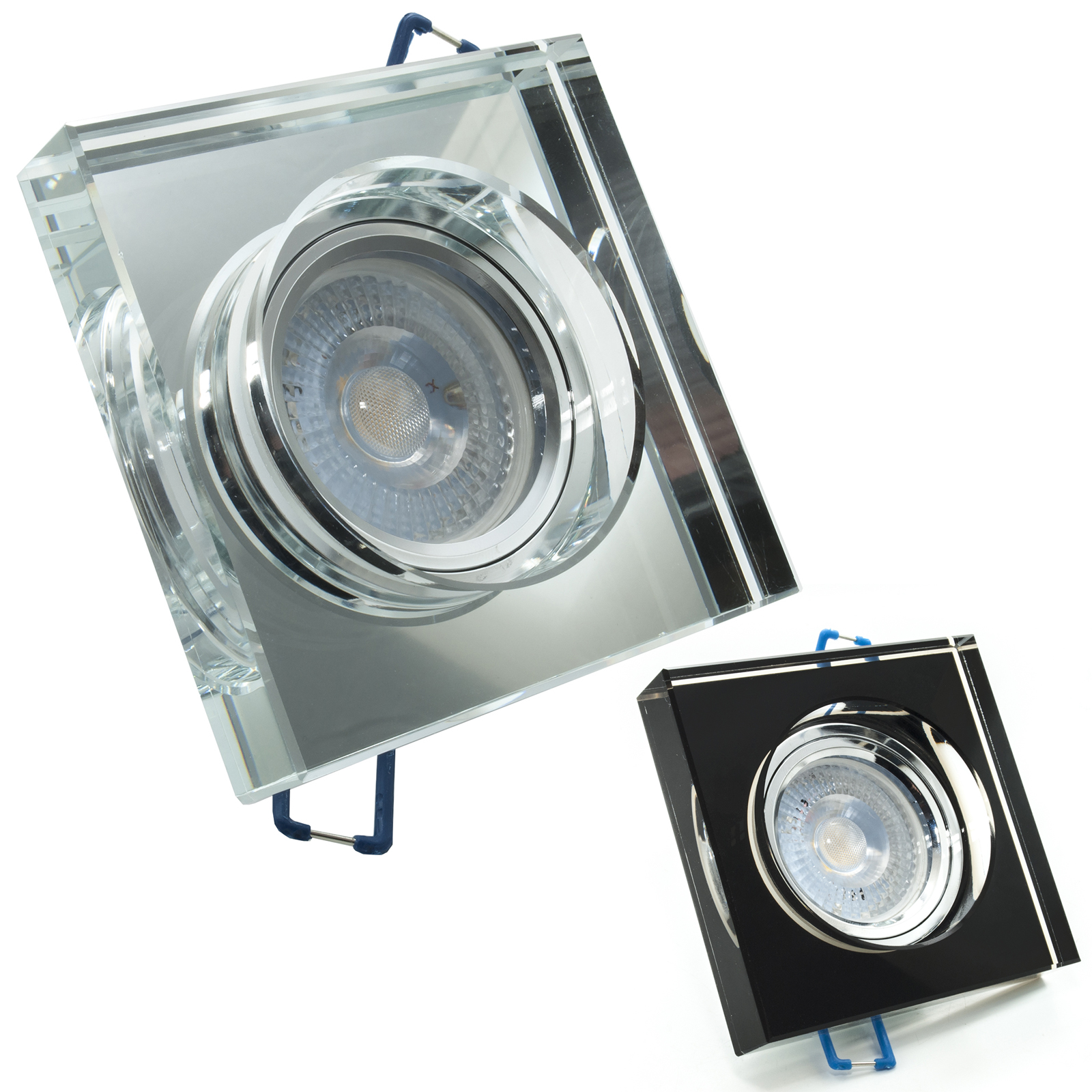LED spotlight 5W GU10 recessed mirrored glass the light spot angle of 38 degrees hole 6cm