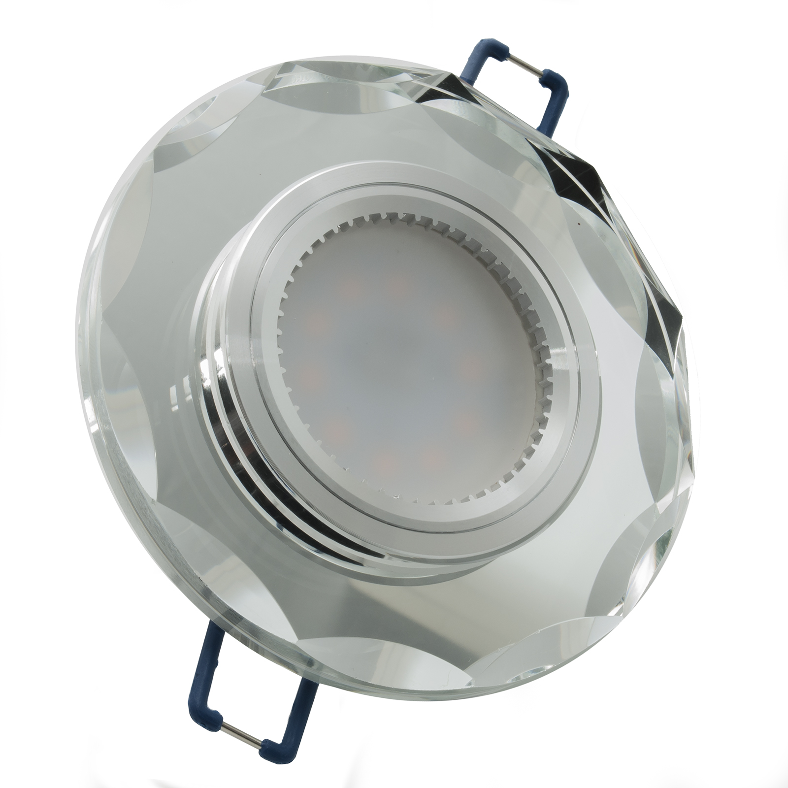 Spotlight round LED 8W GU10 glass mirror with diffused light 150 hole for built-in 6cm 220V
