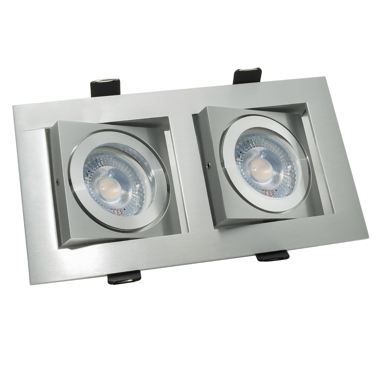 Spotlight rectangular LED 10W double lamp recessed spot light 38 degree GU10 220V