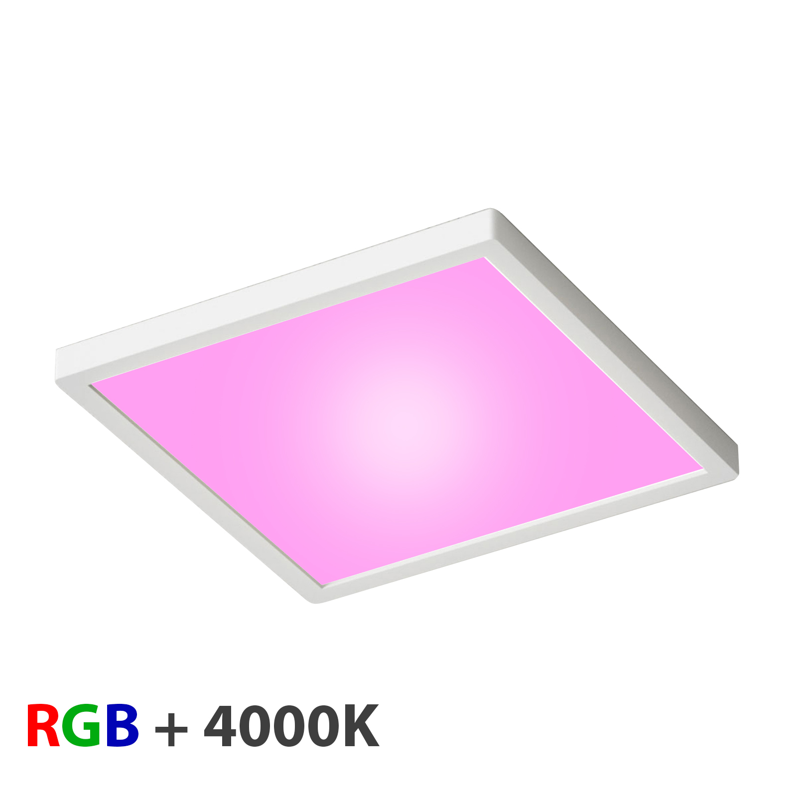 Ceiling light LED ceiling slim 55W light RGBW 4000K chromo dimmable 24V