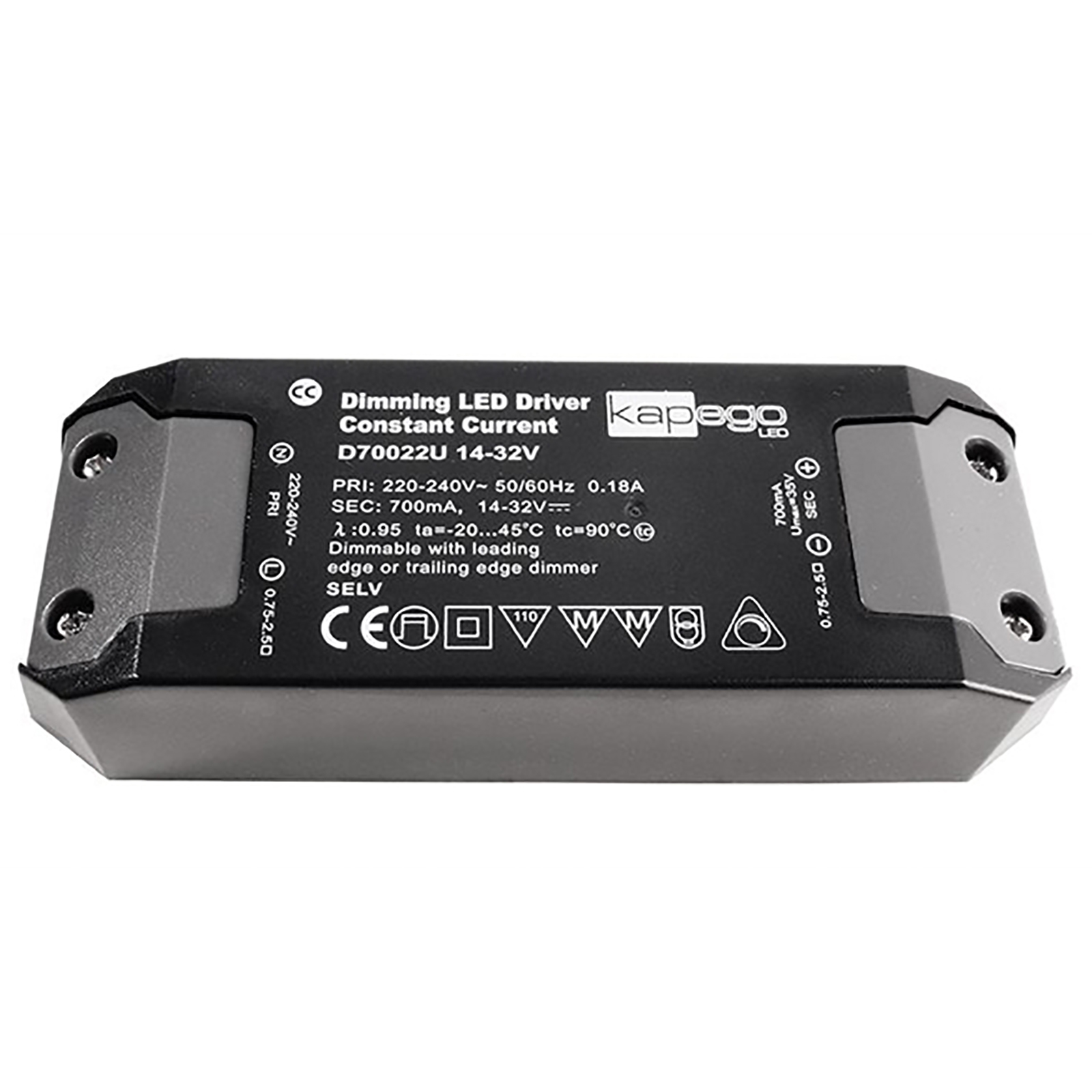 Led driver 22W power supply dimmable dimmer 14-32v DC 700mA 220-240V LED