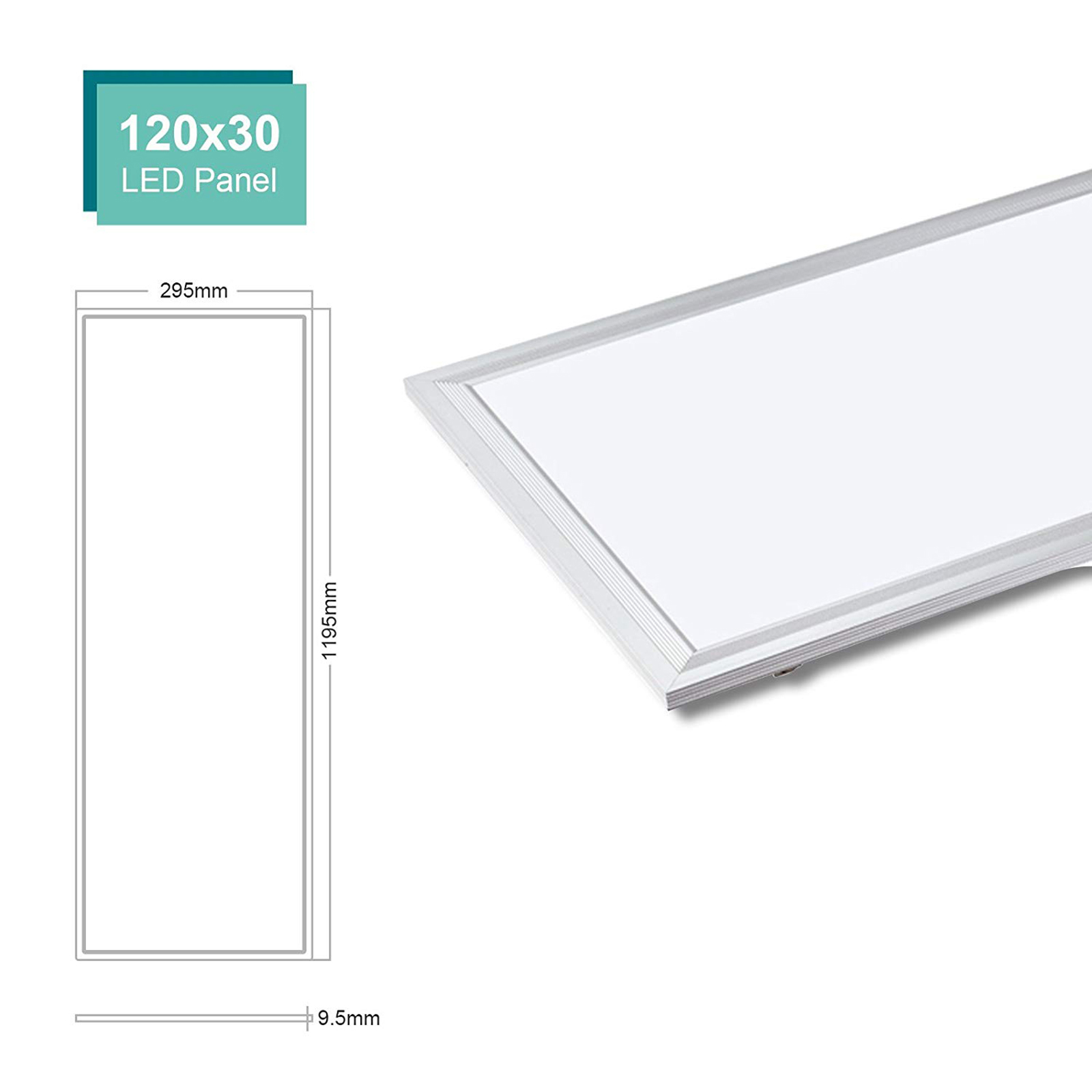 Led panel recessed 120x30 48W lamp rectangular light 4800lm driver 220V