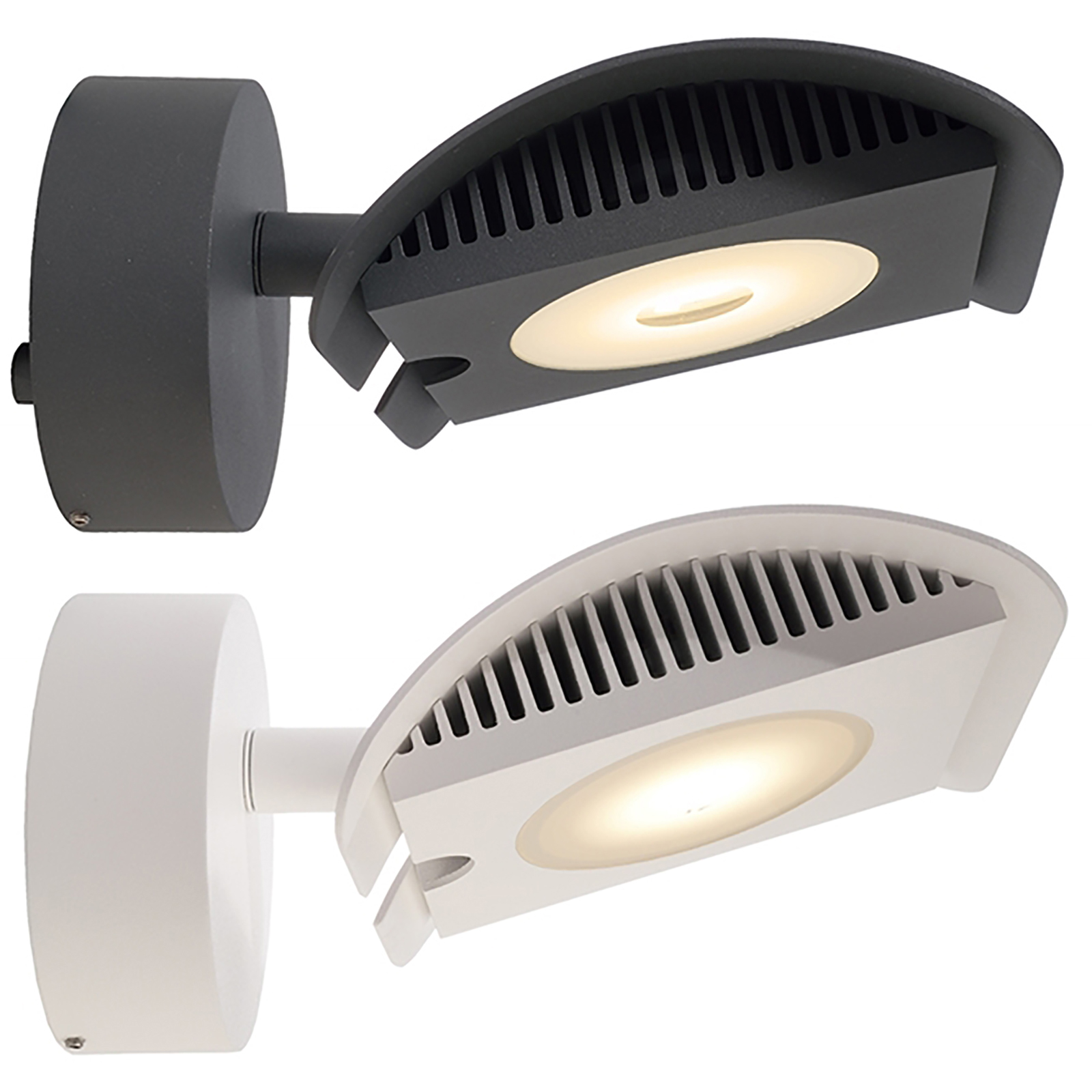 Faretto LED 15W applique dimmable orientabile esterni luci negozio 3000K IP65