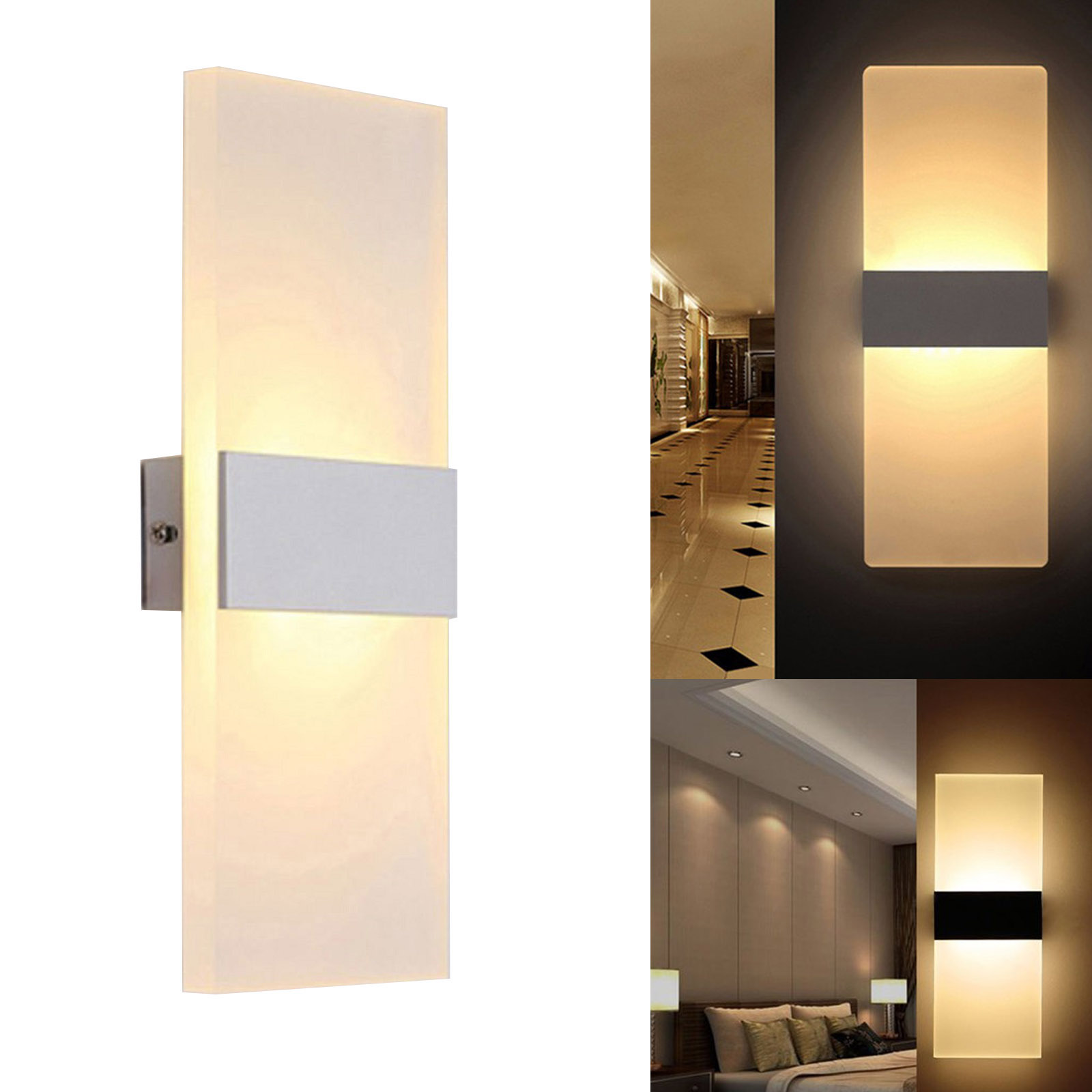 Applique LED 8W lamp modern wall frosted glass light wall input 220V IP20
