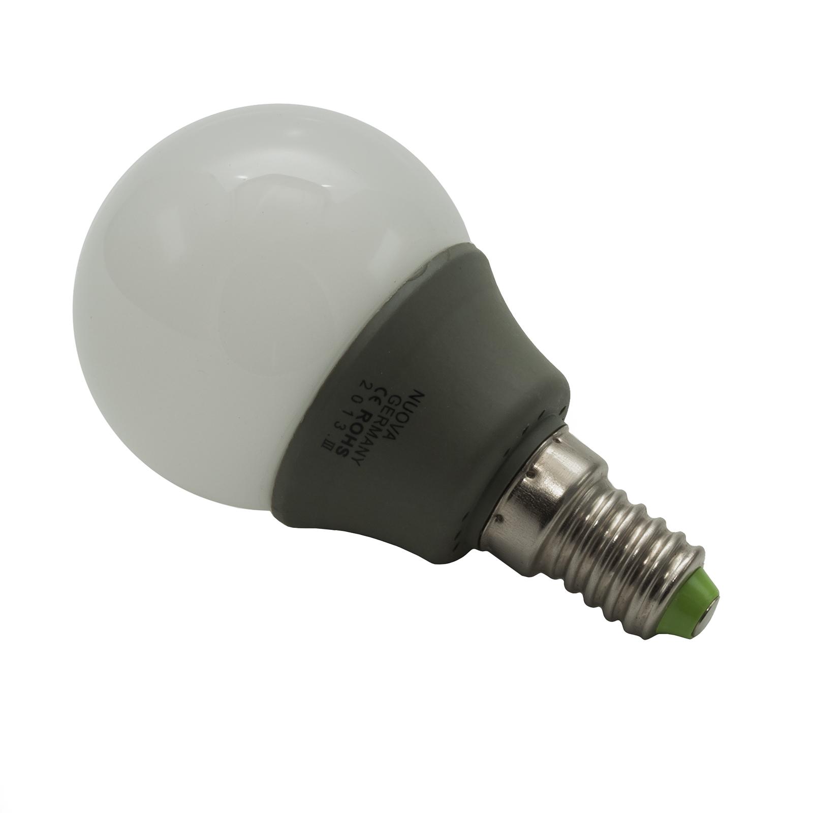 Lampada Led E14 Risparmio Energetico Lampada Led 3w Mini Globo Attacco E14 Luce Calda O Fredda Diffusore In Vetro