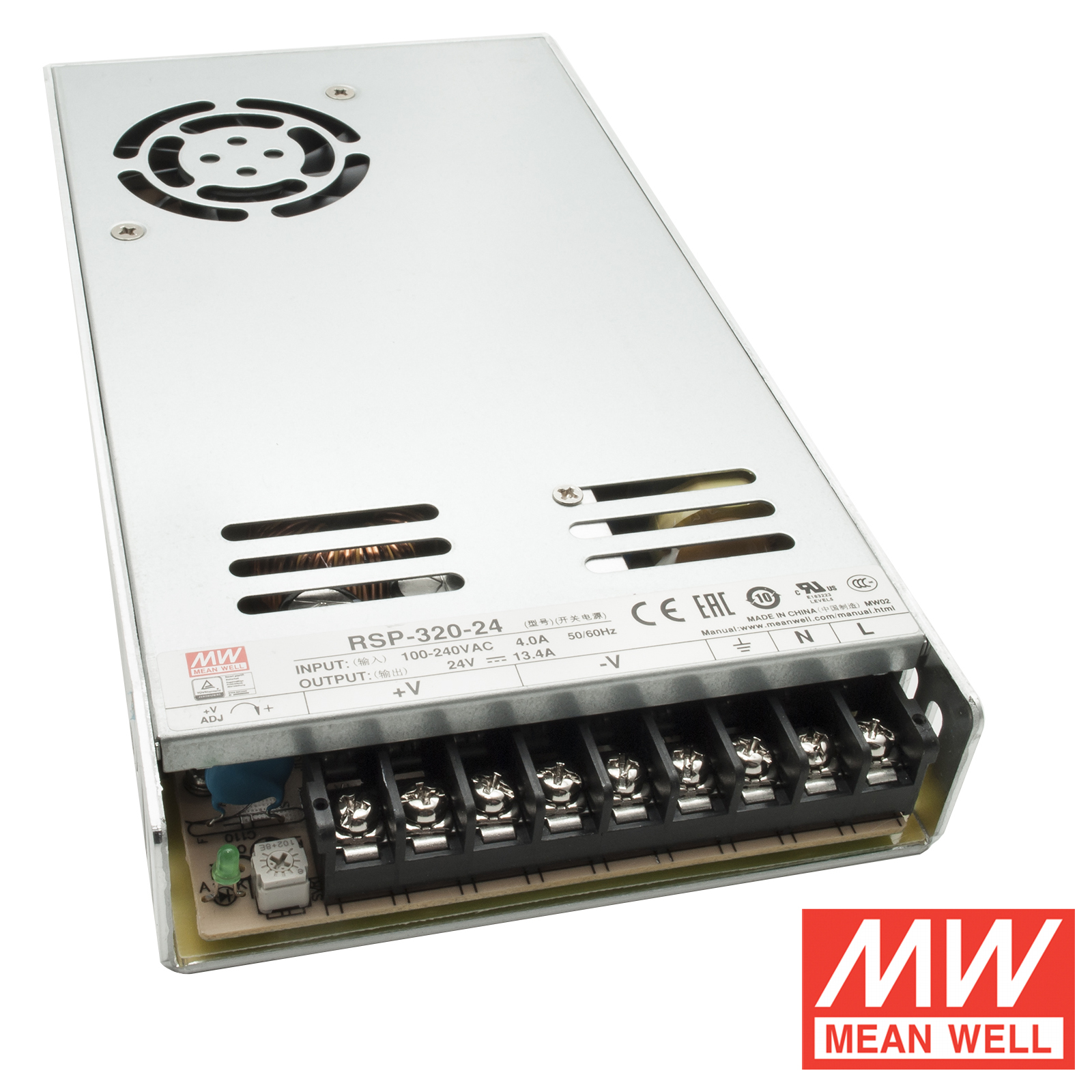 Stabilized power supply pro 320W 24V 13.4 fan-MeanWell RSP-3200-24 220V