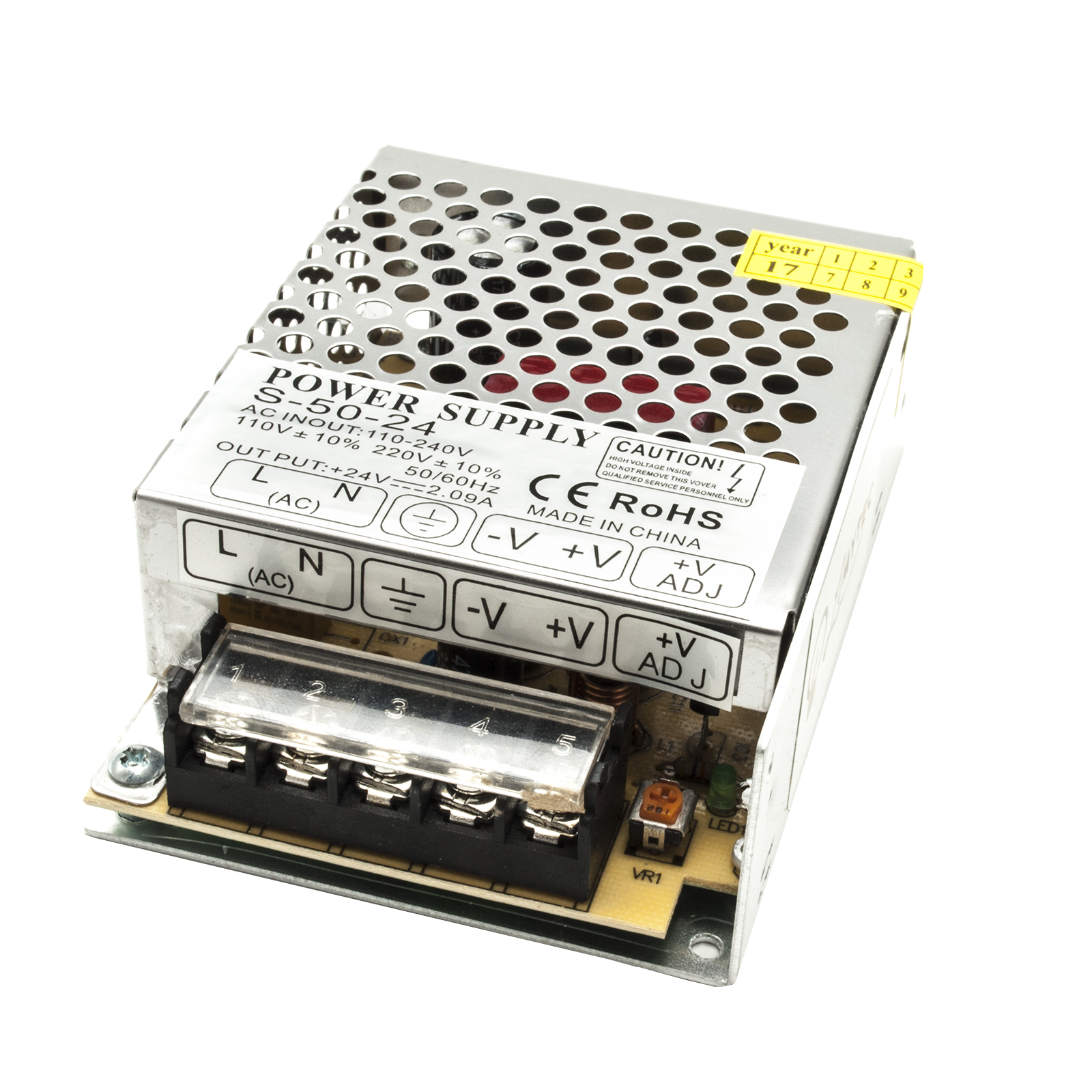 Mini stabilized power supply 50W transformer LED power supply 24Vdc IP20